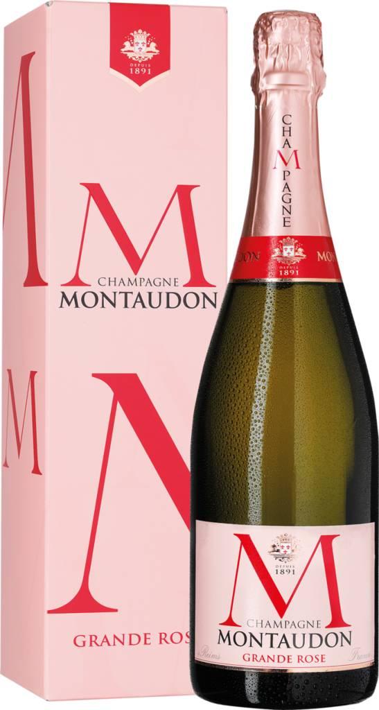 Champagne Montaudon Grande Rosé Brut in Geschenkpackung Reims - Champagne