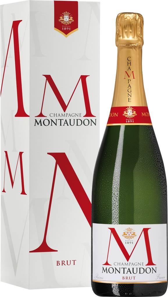 Champagne Montaudon Brut In Geschenkpackung Reims - Champagne