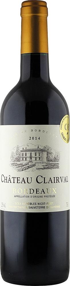 Château Clairval Bordeaux rouge AOP 2018 Château Clairval Bordeaux