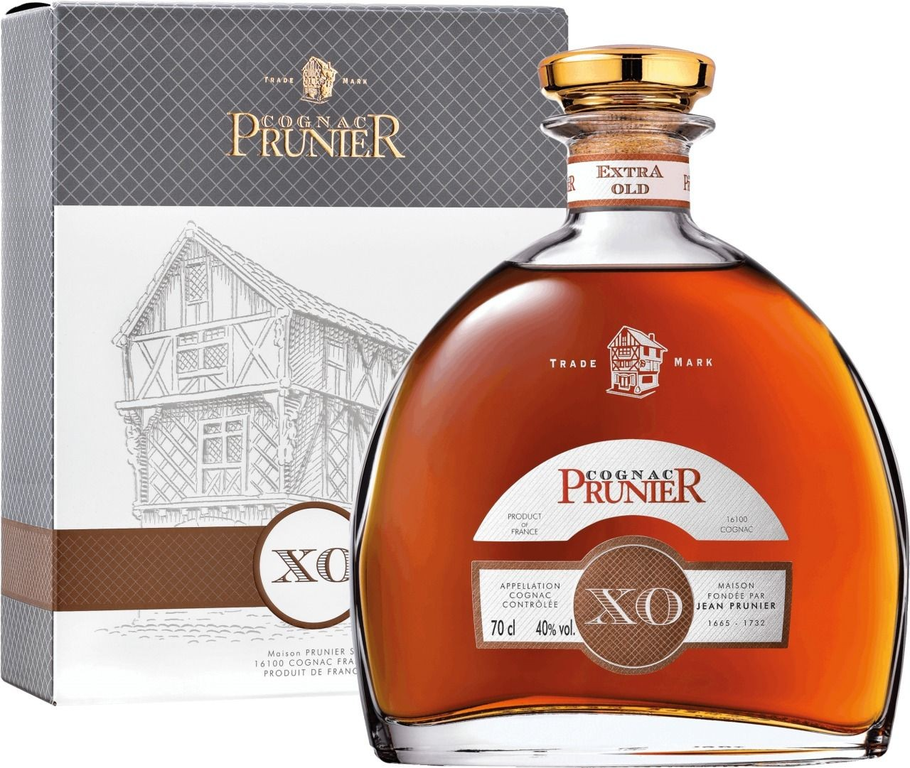 Cognac Prunier Carafe X.O. - 40% Vol. Maison Prunier Cognac
