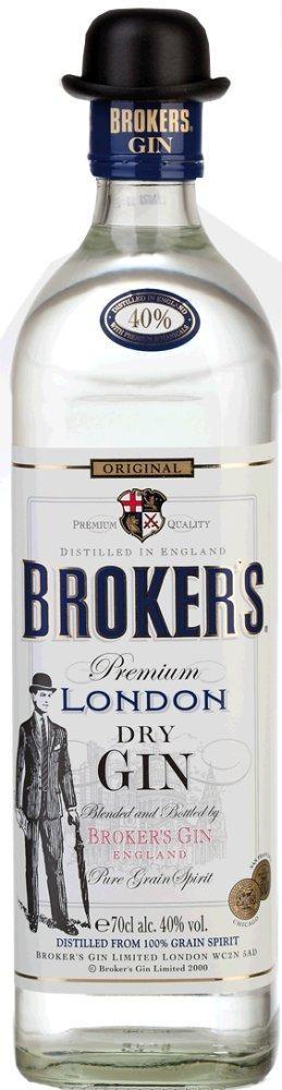 Brokers dry Gin 40% vol. Premium London Dry Gin Brokers