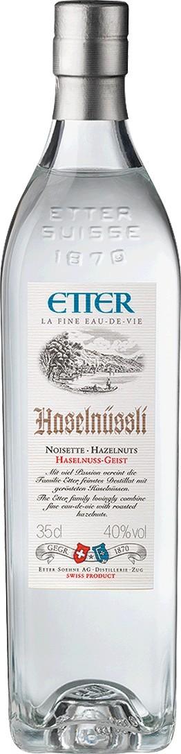 Etter Haselnüssli-Geist 40 % Vol. Eau-de-vie de noisette Etter Söhne AG Distillerie Zug