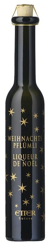 Etter Weihnachtspflümli 18%vol. Pflaumenlikör mit weihnachtlichen Gewürzen (0,2l) Etter Söhne AG Distillerie Zug