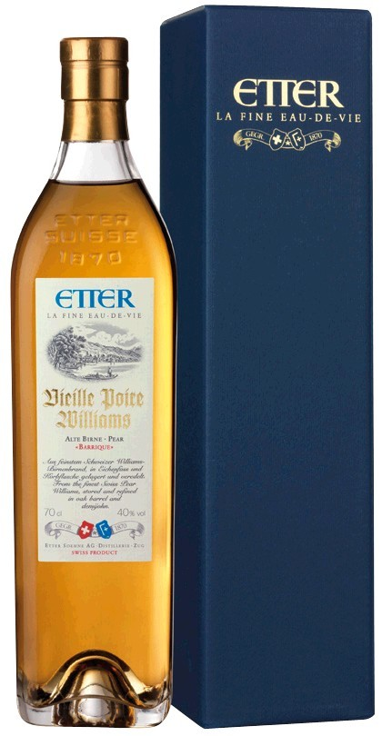 Etter Vieille Poire Williams Schweizer Williamsbirne 40% Vol. Etter Söhne AG Distillerie Zug