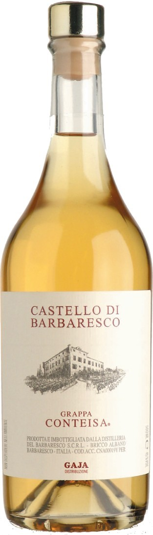 Grappa di Conteisa, 45% Vol. Nebbiolo & Barbera (0,5l) Angelo Gaja Piemont Grappa Gaja