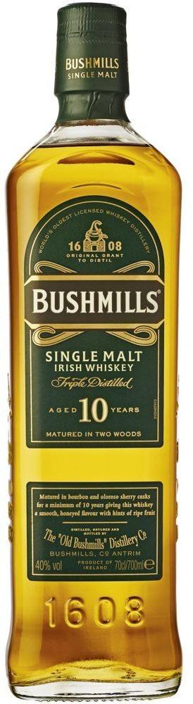 Bushmills 10 Years Single Malt Irish Whiskey 40% vol  in Geschenkverpackung Bushmills