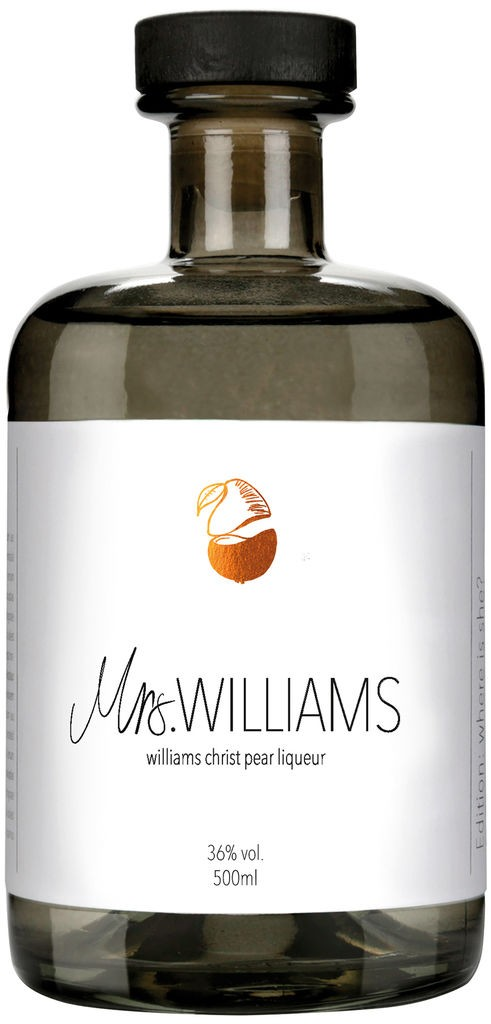 Mrs. Williams finest williams christ pear liqueur (0,5l) Bonner Manufaktur Deutschland