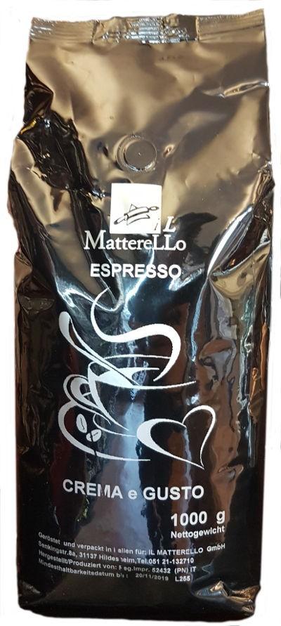 Caffé in Grani NERA Espresso Bohnen (1kg) Il Matterello