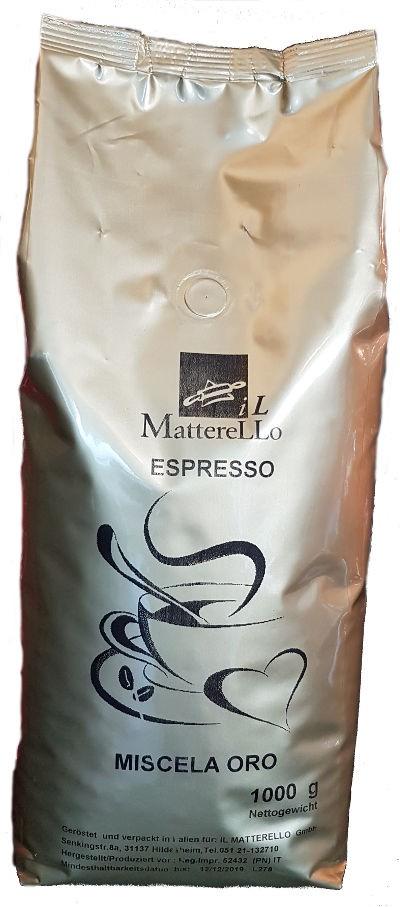 Caffé in Grani ORO Espresso Bohnen (1kg) Il Matterello