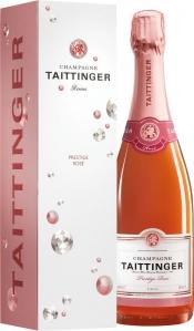 Champagne Taittinger Brut Prestige Rosé in Diamond GP Champagne Taittinger Champagne