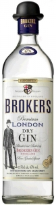 Brokers Dry Gin 40% vol. Premium London Dry Gin (0,05l) Brokers