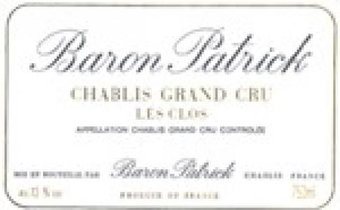 Chablis Les Clos Chablis Grand Cru AOC Baron Patrick Chablis