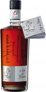 Cognac Âge des Fleurs, 42% Vol. AC,in Geschenkverpackung, mind. 15 Jahre Fassreife Cognac Léopold Gourmel