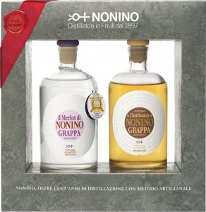 2er GP Nonino Grappe Vigneti 0,35l Grappa Lo Chardonnay MV 41% vol. Nonino Distillatori