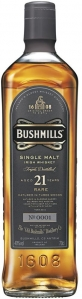 21 Years Single Malt Irish Whiskey 40% vol in Geschenkverpackung - streng limitiert - Bushmills