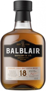 18 Years Old Single Malt Scotch Whisky 46% vol in GP Balblair