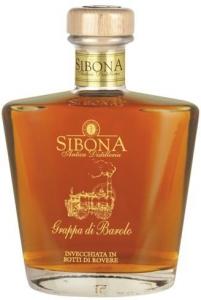 Sibona Grappa di Barolo invecchiata 44% vol in edler Holzschatulle Distillerria Sibona