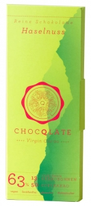 Virgin Cacao Schokolade – Haselnuss Chocqlate