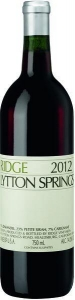 Lytton Springs Zinfandel von Ridge Estate aus Kalifornien in USA