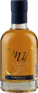 My Grappa Affinata in Barrique Selection Miniatur von Inga aus Piemont in Italien